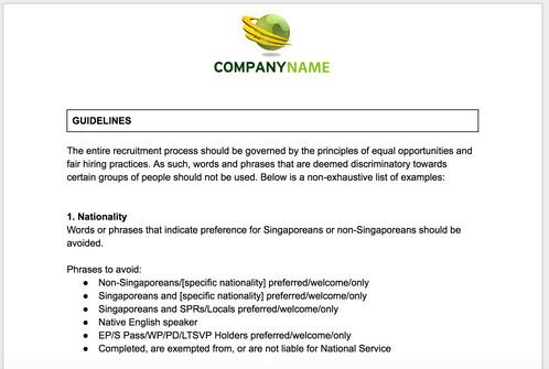hr job advertisement sample pdf