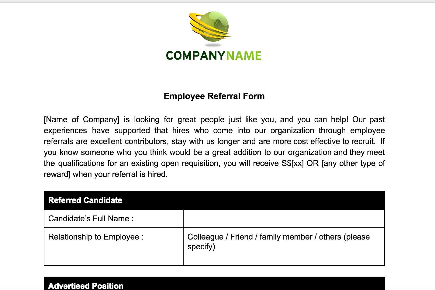 Employee Referral Process And Form