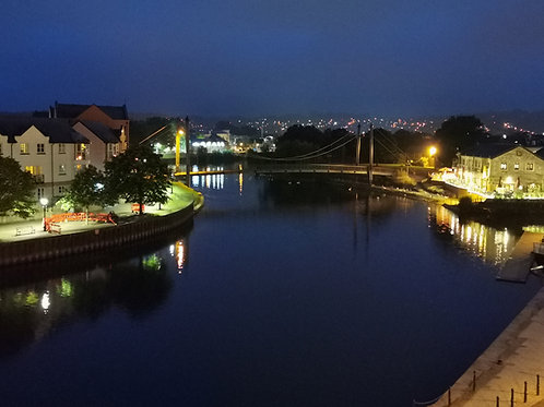 Exeter quay lit by Tony Dale