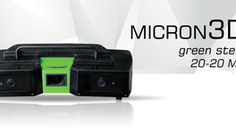 The World Premiere of the new 3D ScannerMICRON3D green stereo 20-20MP. Dedicated to quality control