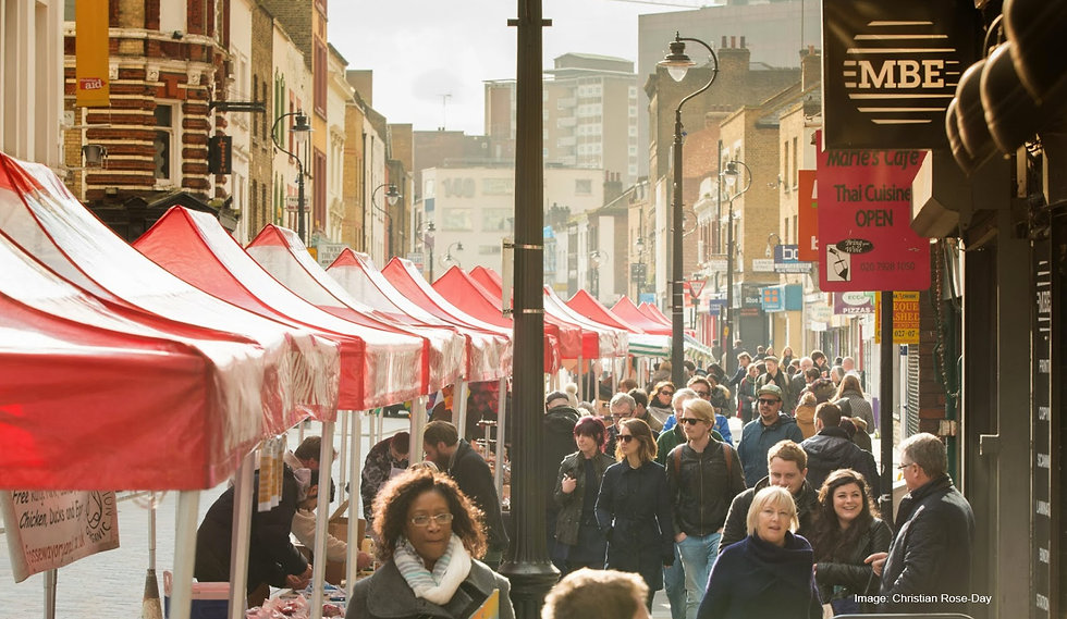 Photo of a busy Lower Marsh Market