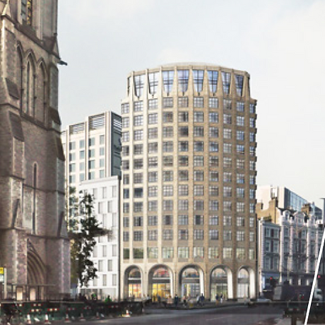 Image of new hotel building