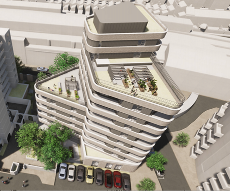 Architect's impression of new Wootton Street housing