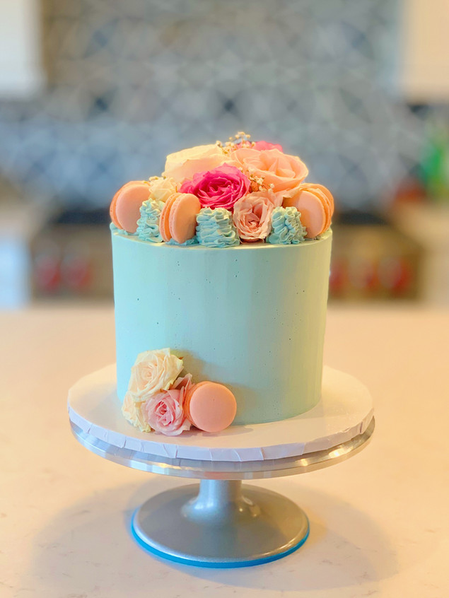 Spring Floral Cake Pink and Blue.JPG