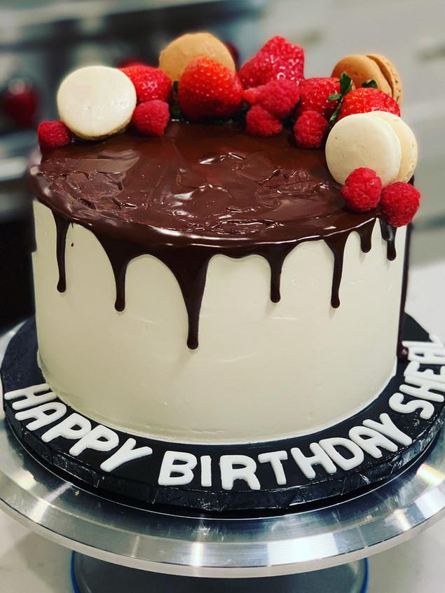 Chocolate drip cake with berries.JPG