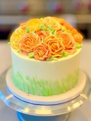 Shades of Peach Rose Bouquet 2.JPG
