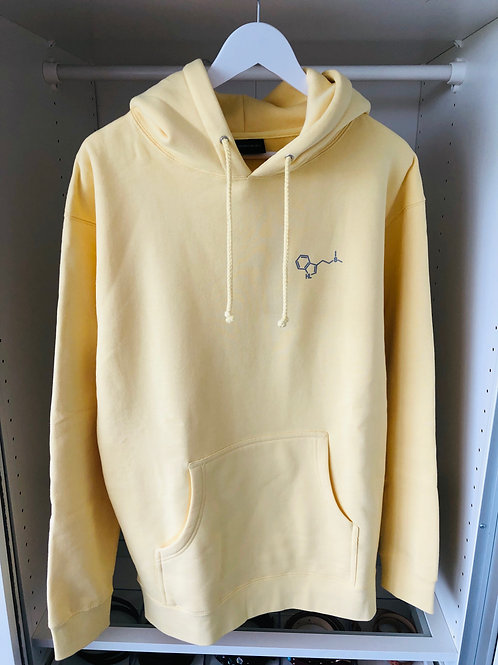 Pastel hoodie żółta