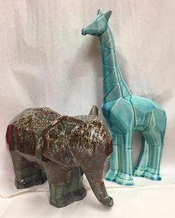 PotteryGlazeElephantGiraffe