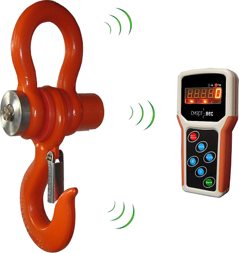 Электронные крановые весы на 15 т СмартВес ВЭК-Д-15000 (индикатор на пульте ДУ)