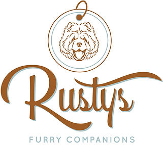 Business Logo, Dog Collar with Chow Chow in the middle