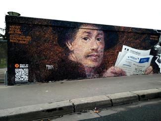 Rembrandt dos au mur