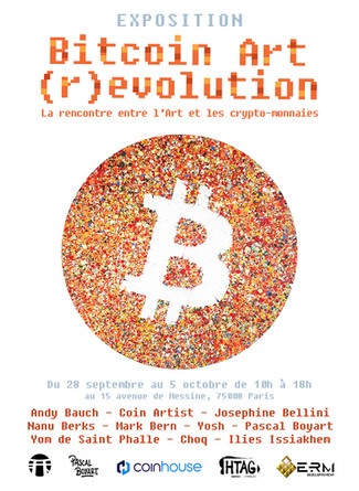 Exposition collective : Bitcoin Art (r)evolution - La rencontre entre l'Art et les crypto-monnai