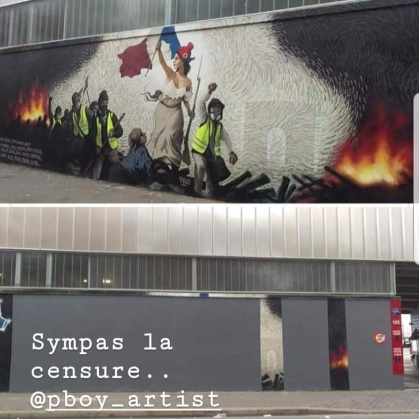 La Liberté guidant le peuple 2019 censurée