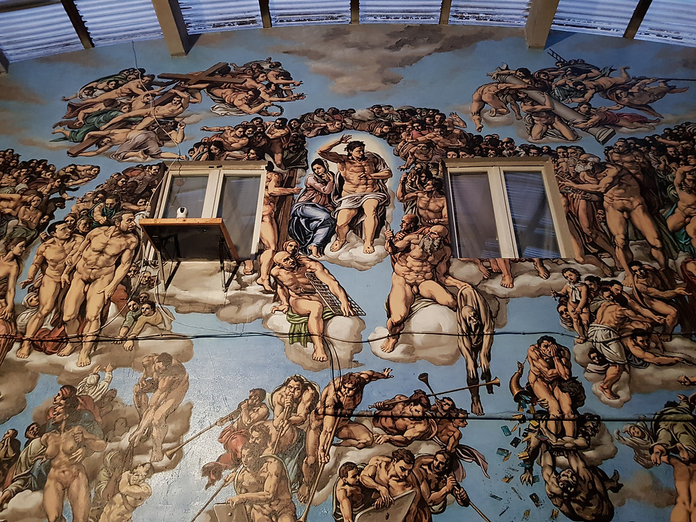 Low diving view of The Last Judgment. Photo by @Pboy