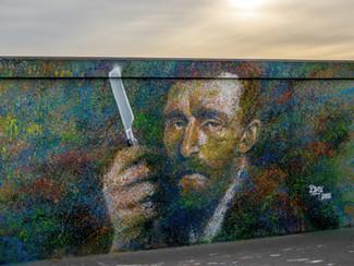 Fresco Van Gogh back to the wall