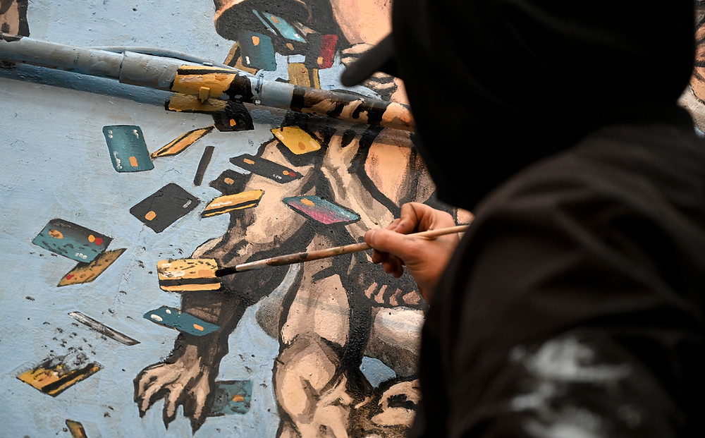 Making-of detail of The Last Judgment. Photo by @Stefano Rellandini