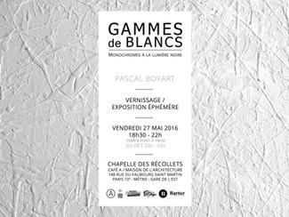 Vernissage : Gammes de Blancs - Monochromes à la lumière noire