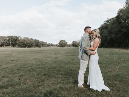 Stephanie & Josh - Just Married - Newberry Backyard Wedding
