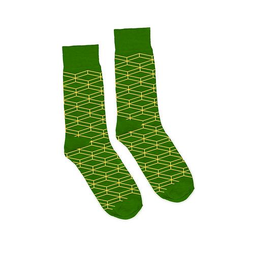 Geometric Socks - Green