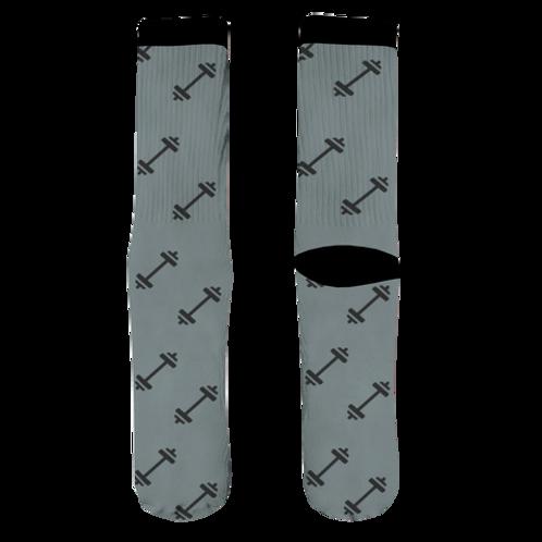 Barbell Socks - Gray
