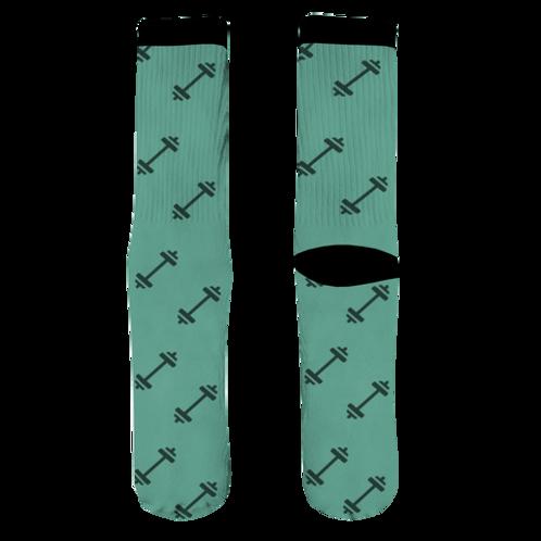 Barbell Socks - Teal