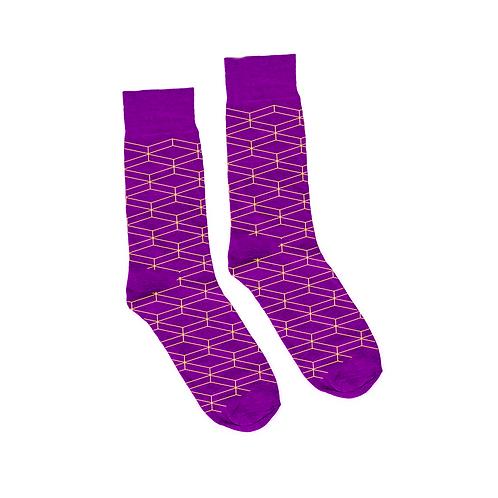 Geometric Socks - Purple
