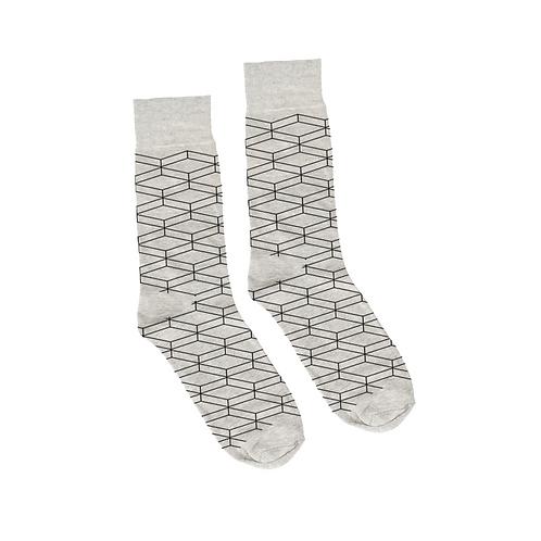 Geometric Socks - Gray