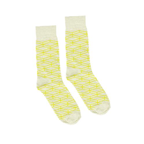 Geometric Socks - Dirty White
