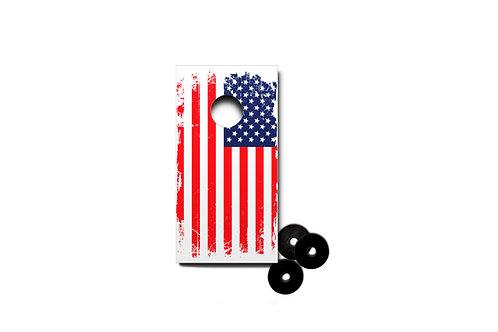 American Flag Desktop Cornhole Set