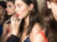 Model having make up applied