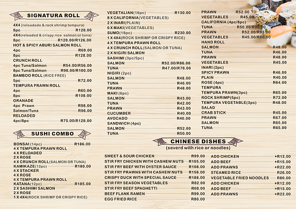 Menu for Akiya Sushi 2.png