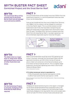 Myth Buster Fact Sheet - Carmichael Proj