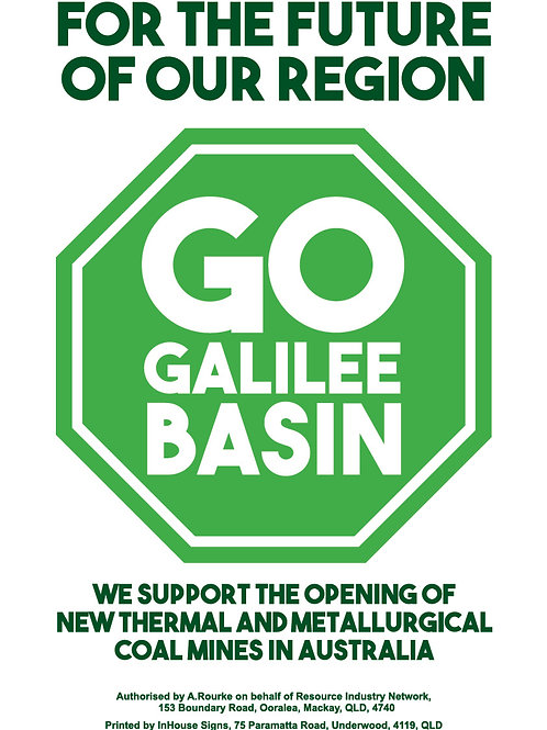 Go Galilee Basin CORFLUTE (white background) AVAILABLE FOR PICK UP ONLY!