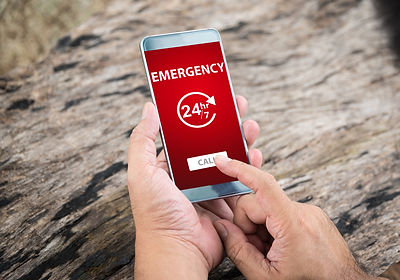Emergency call use by smartphone. Concep