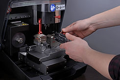 Close view of key copying machine with k