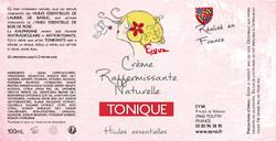 étiquette tonique 100ml