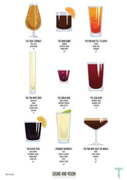 Cocktail Menu Poster Screen