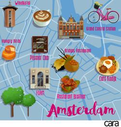 Amsterdam Map Cara