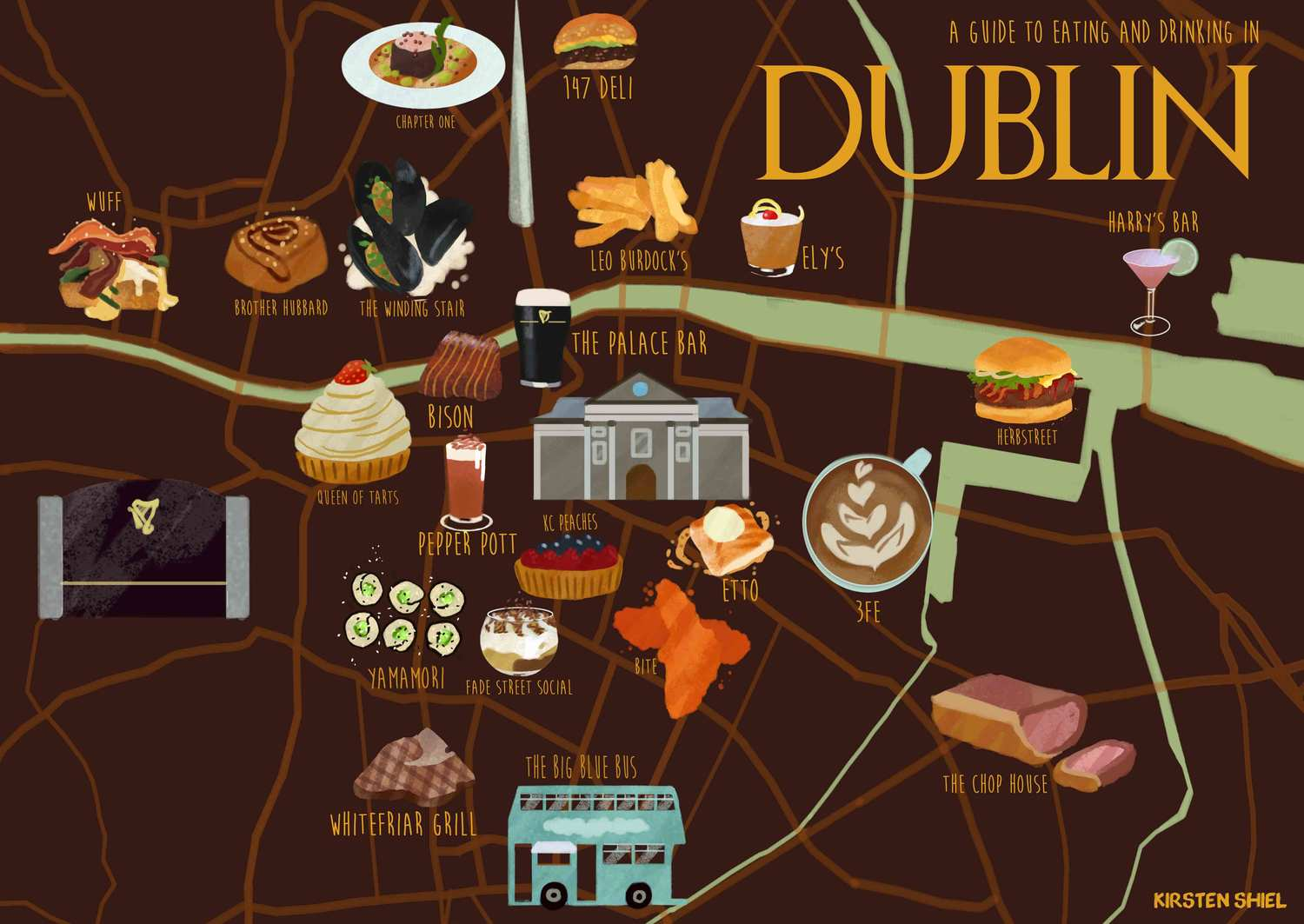 Dublin Food Map