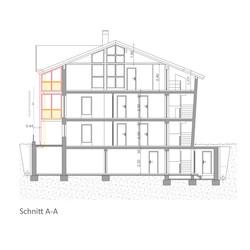 Wohnhaus Südtirol - Schnitt