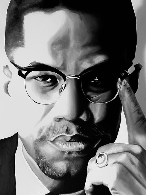 """Malcolm X"" Original Art"