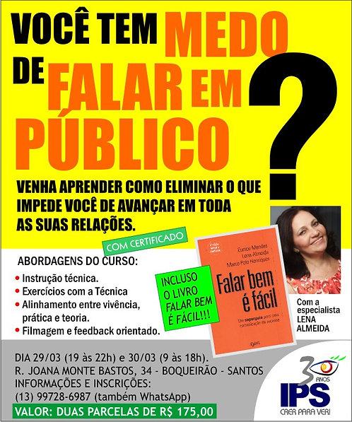 """Curso """"Falar em Público"""", com Lena Almeida."""