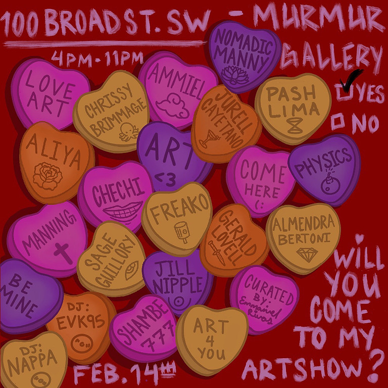 WILL YOU COME TO MY ARTSHOW?