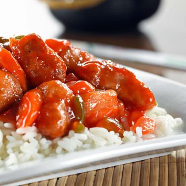 Sweet and Sour Chicken  - Hunan Village Fortuna - Humboldt's Premier Chinese Restaurant