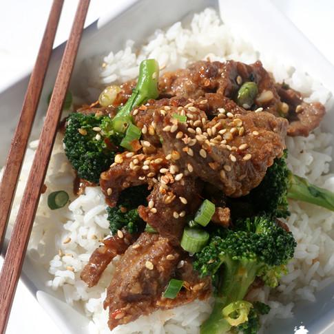 Broccoli Beef  - Hunan Village Fortuna - Humboldt's Premier Chinese Restaurant