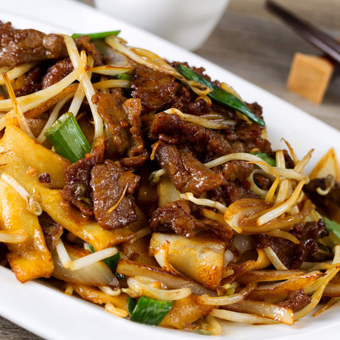 Beef Chow Fun Noodles  - Hunan Village Fortuna - Humboldt's Premier Chinese Restaurant
