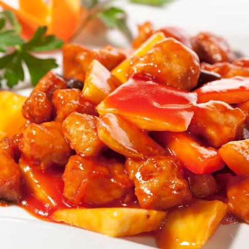 Pineapple Chicken  - Hunan Village Fortuna - Humboldt's Premier Chinese Restaurant