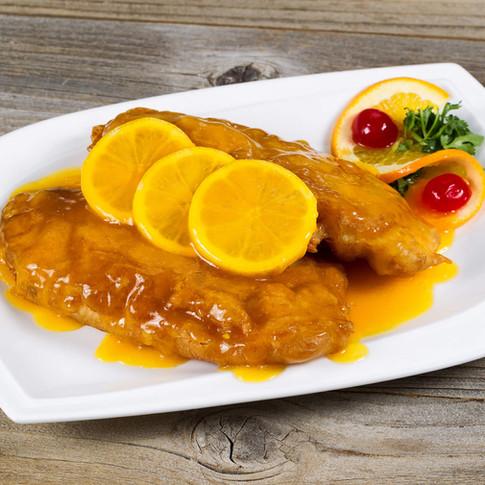 Lemon Chicken  - Hunan Village Fortuna - Humboldt's Premier Chinese Restaurant