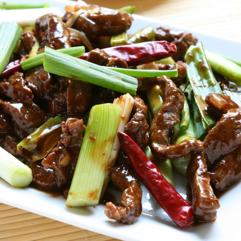 Mongolian Beef  - Hunan Village Fortuna - Humboldt's Premier Chinese Restaurant