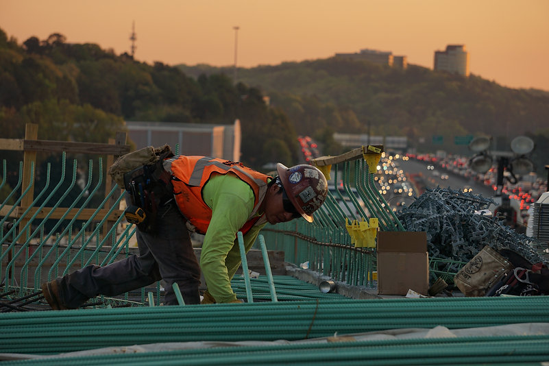 Photo of worker on a construction site
